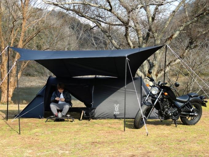 カマボコテントソロULでキャンプツーリング