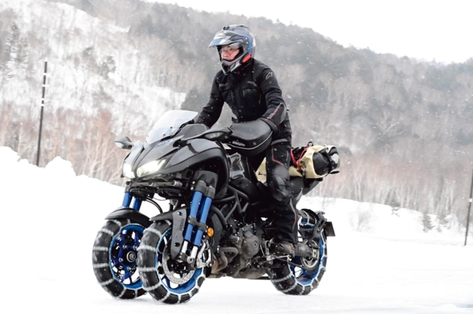 ヤマハのNIKENで雪上走行