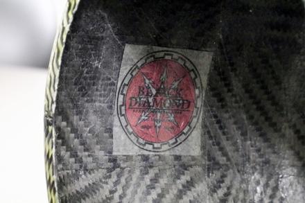 A-TECH カーボン蚊取線香ホルダー内側のBALCK DIAMONDロゴ