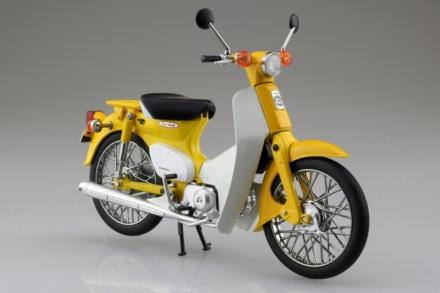 AOSHIMA 1/12完成品バイク ホンダ スーパーカブ50 イエロー