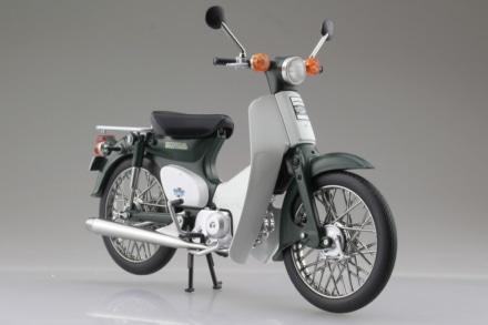 AOSHIMA 1/12完成品バイク ホンダ スーパーカブ50 グリーン