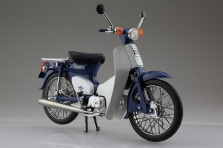 AOSHIMA 1/12完成品バイク ホンダ スーパーカブ50 ブルー
