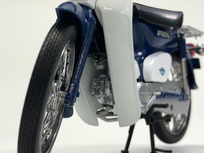 AOSHIMA 1/12完成品バイク ホンダ スーパーカブ50 エンジンディテール