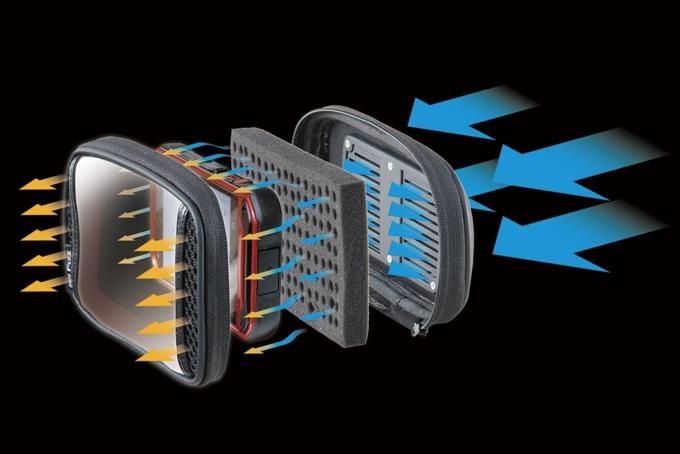 TANAX デジケースマウントAC 空気の流れ