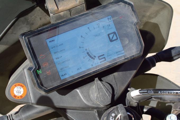 2019年モデル KTM 790アドベンチャーR デジタルメーターRALLYモード