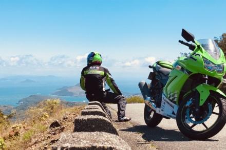 眺望とオートバイと私