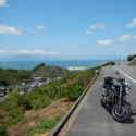 有明海越しに平成新山を眺望