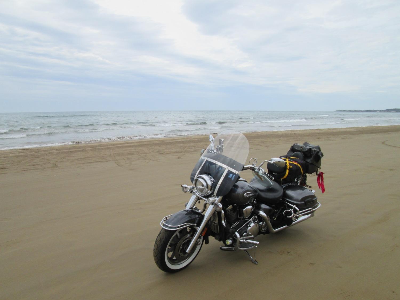 砂の上でenjoy