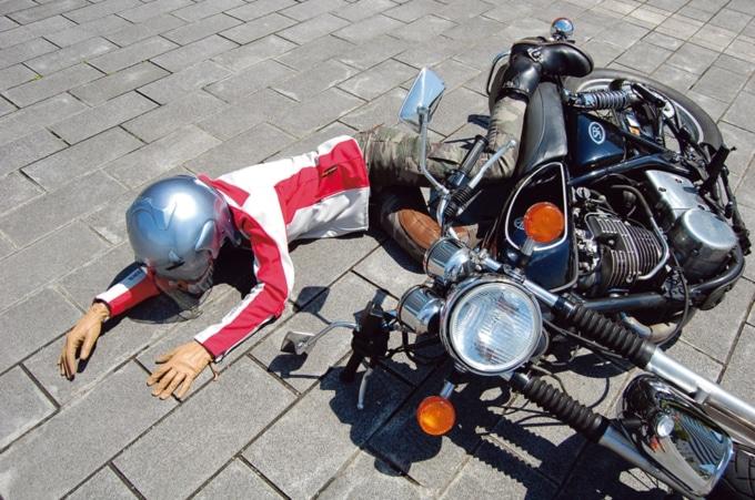 バイクの立ちゴケ