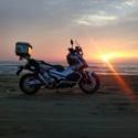 千里浜なぎさドライブウェイの夕日