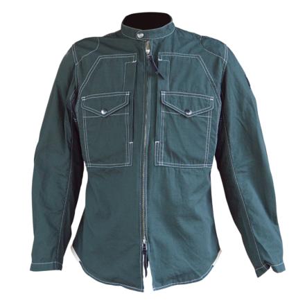 マックスフリッツ MFS-2280 プロテクトスタンドカラーシャツ エボニーグリーン