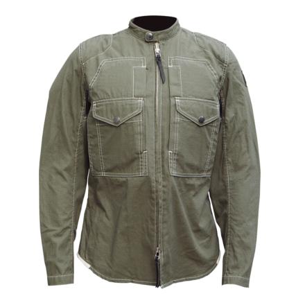 マックスフリッツ MFS-2280 プロテクトスタンドカラーシャツ カーキ