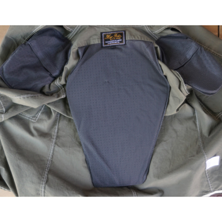 マックスフリッツ MFS-2280 プロテクトスタンドカラーシャツ メッシュソフトパッド