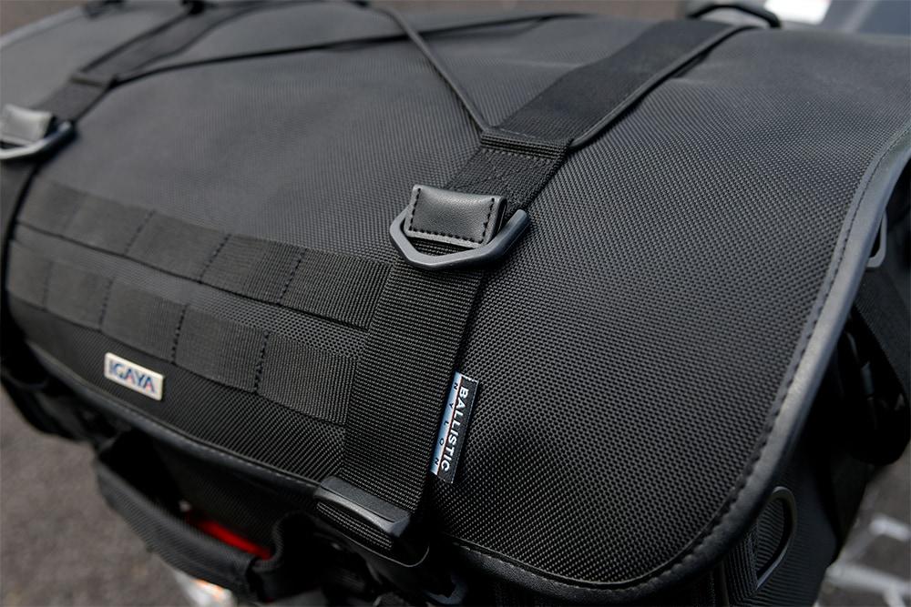 プロト IGAYAのツーリングシートバッグは1680Dバリスティックナイロンを採用