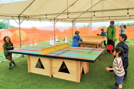 THE CAMP BOOK 2019 木製の卓球台