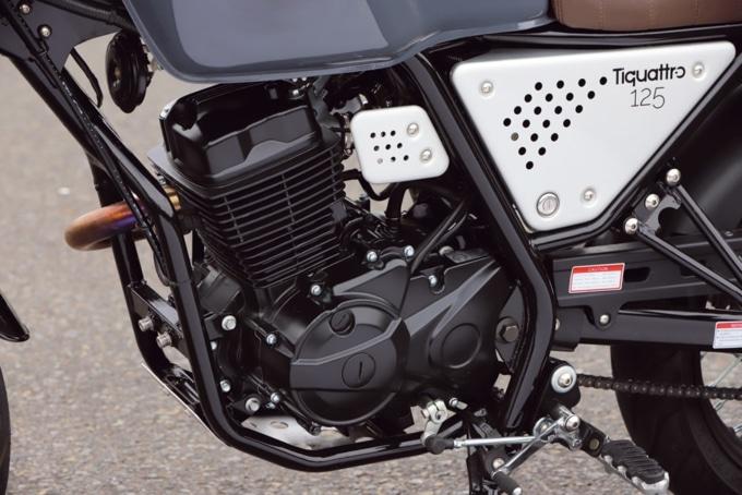イタルモト ティクアトロ125 スクランブラー エンジン