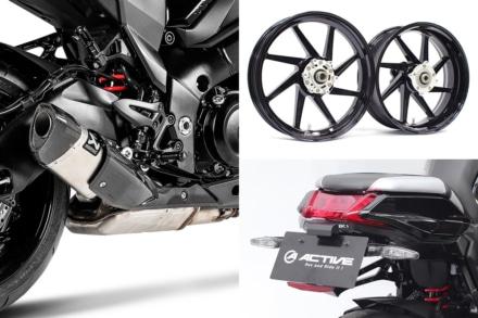 新型カタナをさらにスタイルアップ!スリップオンサイレンサー、鍛造ホイールなど各種カスタムパーツが登場
