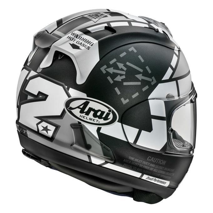 ARAI RX-7X MAVERICK GP3 リアビュー