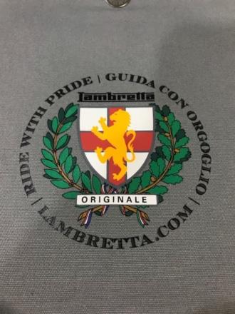 Lambretta ストライプスモールバッグ 内部ロゴ