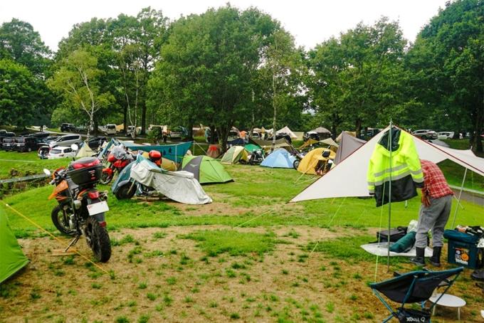 ニューアコースティックキャンプ バイクエリア宿泊