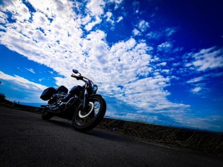 夏空×バイク