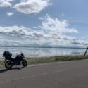 空と海とバイク