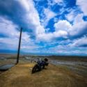 有明海×青空×バイク