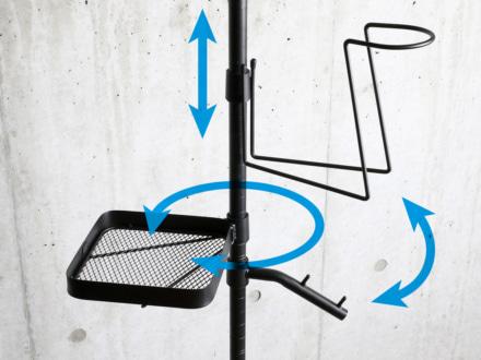 ドッペルギャンガー ガレージワンポールラック パーツ配置は自由に設定可能