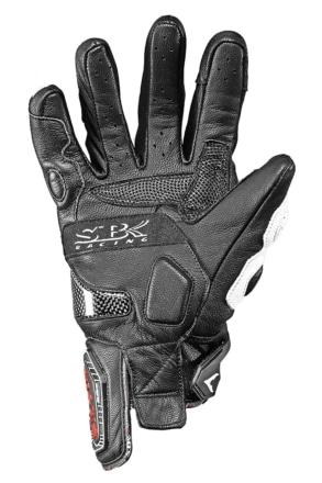 SBK RACING SPORTS ST-12 プロテクションカーボンレザーグローブ 手の平側