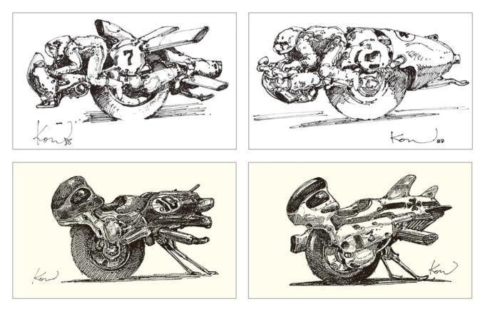 ヴイナス戦記 レース用モノバイのラフデザイン