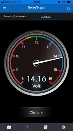 キジマ Bluetooth対応バッテリーチェッカー『BattCheck』で電圧をモニタリング