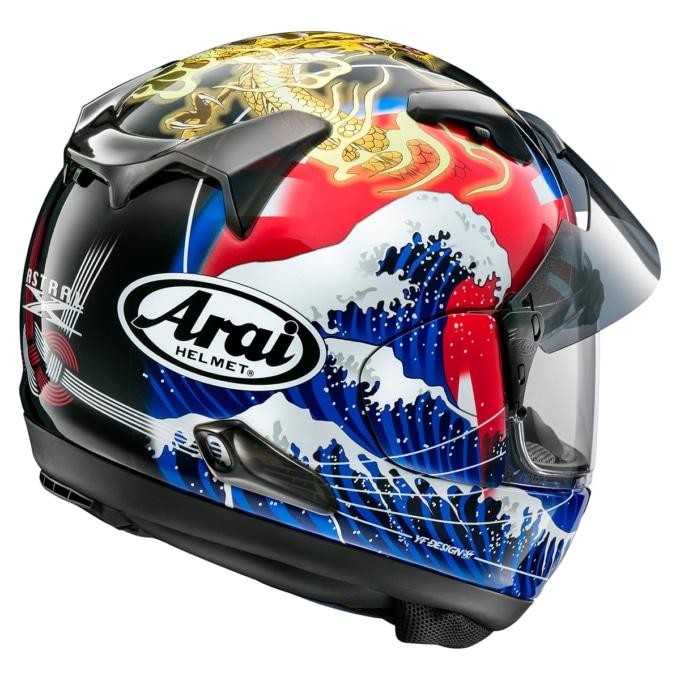 アライヘルメット ASTRAL-X ORIENTAL2 バックスタイル