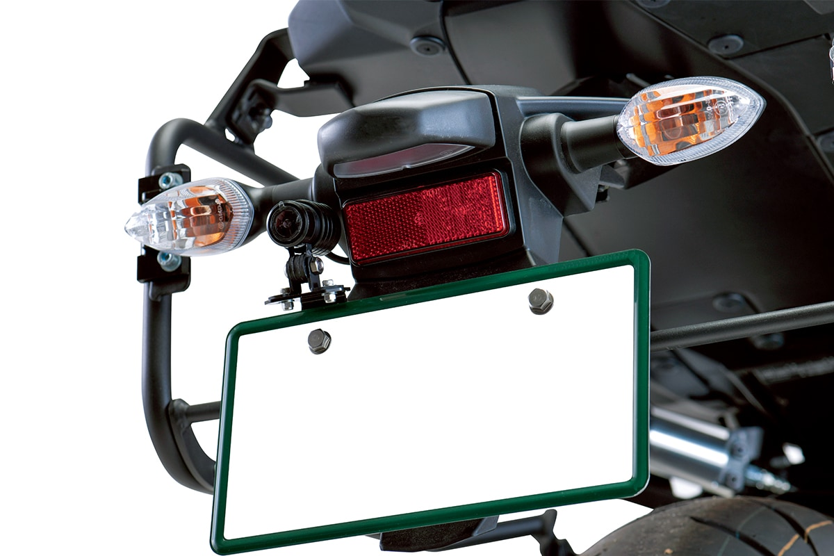 プロトからドラレコをバイクのナンバー上に簡単装着できる専用ステーが登場