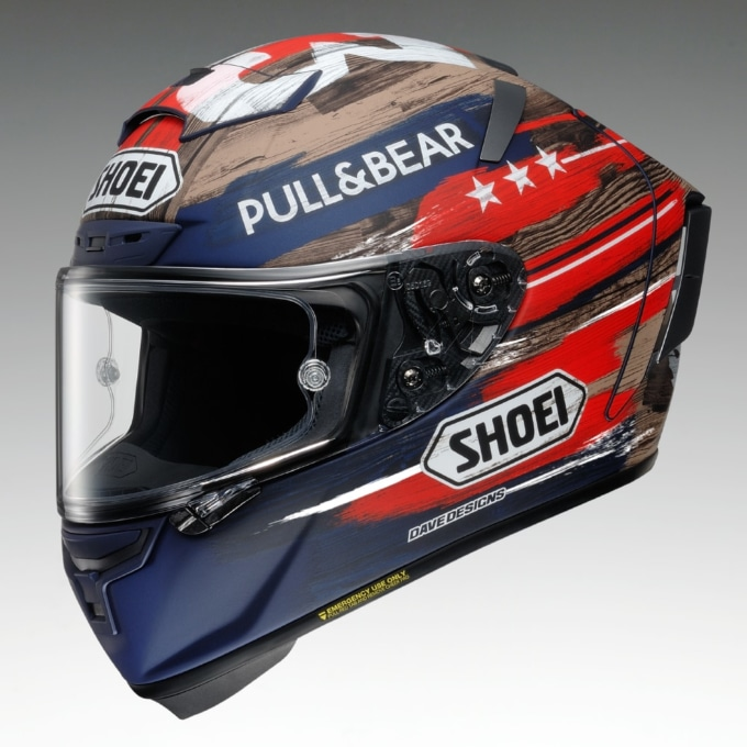 SHOEI  X-FOURTEEN MARQUEZ AMERICA フロントビュー