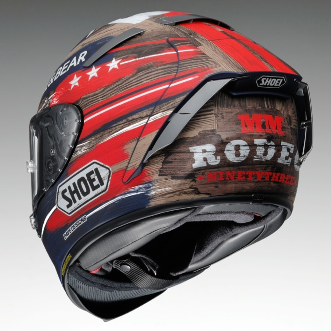 SHOEI X-FOURTEEN MARQUEZ AMERICA リヤビュー