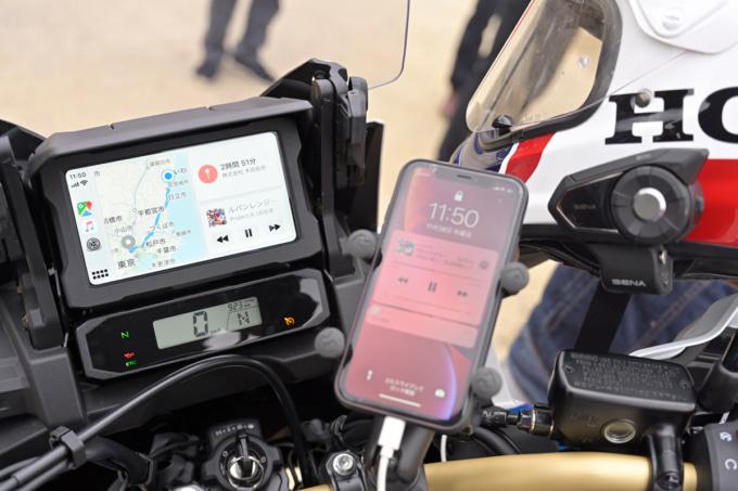 ホンダ CRF1100LアフリカツインシリーズはApple CarPlayに対応
