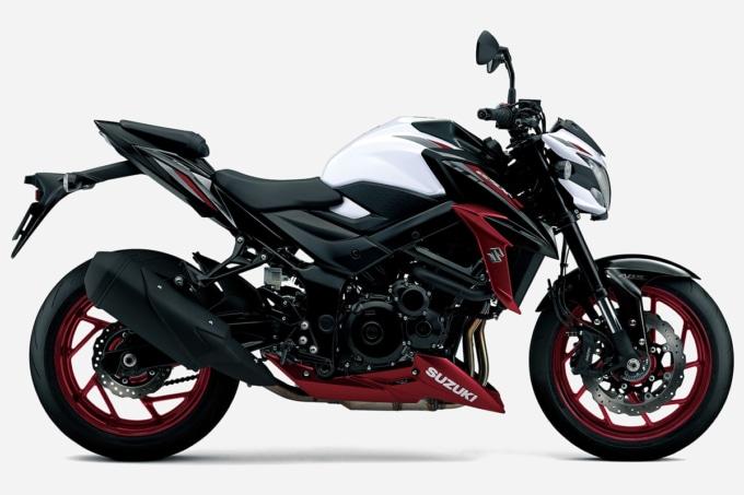 SUZUKI GSX-S750 ABS(2020年モデル)パールグレッシャーホワイト/グラススパークルブラック サイドビュー