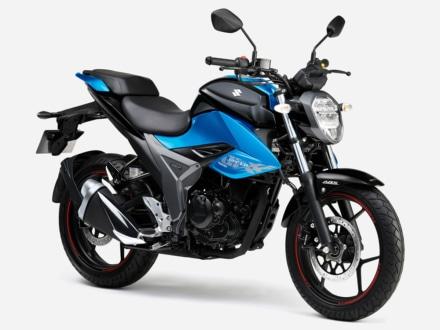 2020年モデル SUZUKI GIXXER150(グラススパークルブラック / トリトンブルーメタリック)7:3ビュー