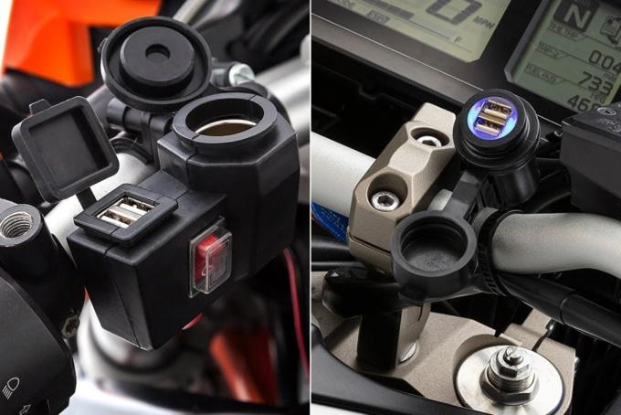 UA バイク用電源 デュアルUSB充電器+シガーソケット/UA バイク用電源 デュアルUSB充電器