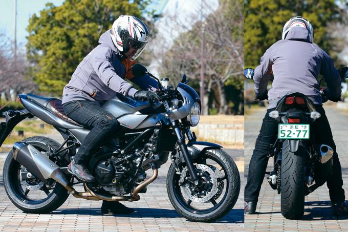 スズキ SV650X ABSの足つき&乗車ポジション