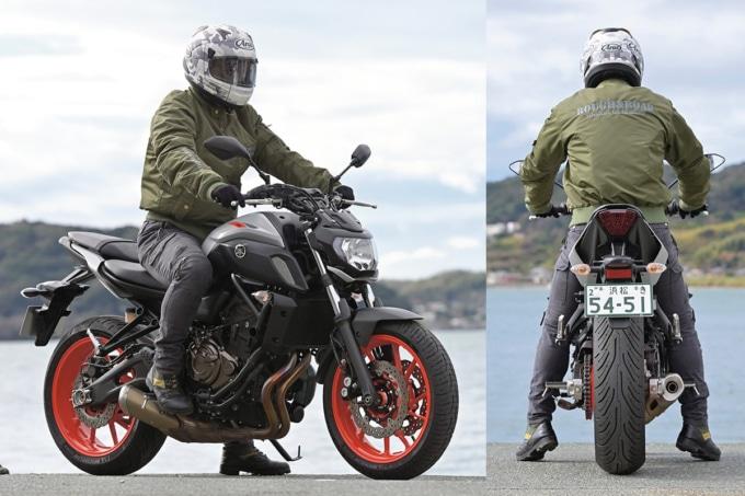 YAMAHA MT-07 ABSの足つき&乗車ポジション