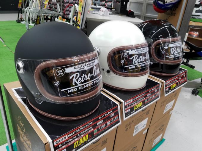 ライコランド埼玉店Zコーナーで開催中のRIDEZポップアップストア 新作ヘルメット