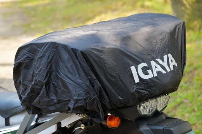 プロト IGAYAシートバッグのレインカバー装着イメージ