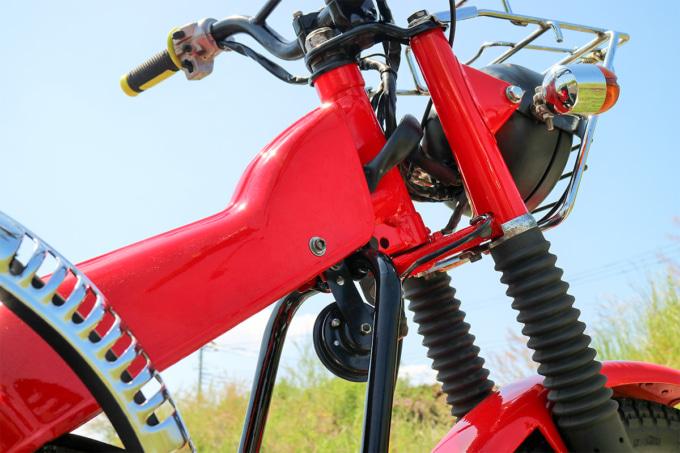 オートボーイ津田沼のリサイクルカブサービスでリフレッシュしたハンターカブ(CT110、'81年式)のフレームカバー
