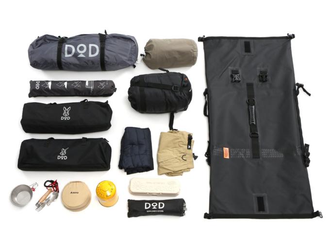 DOPPELGANGER(ドッペルギャンガー)DBT427-BK ターポリンツーリングシートバッグ パッキング例