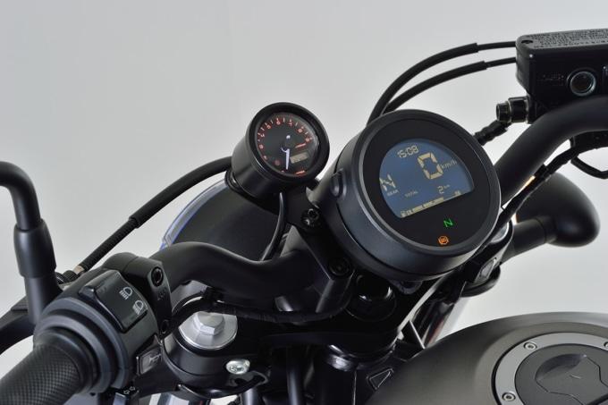 VELONAタコメーターキット φ48を装着したREBEL250(レブル250)