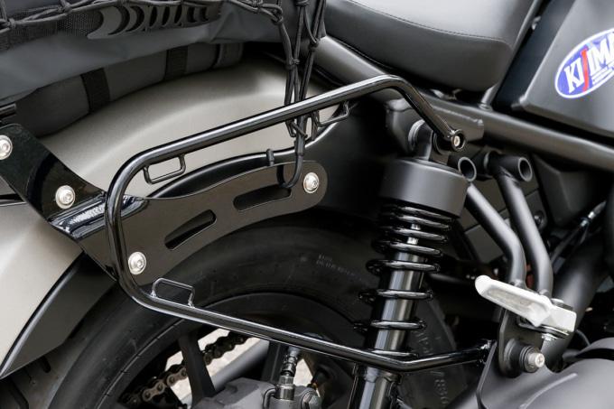 キジマ トランスコンチネンタルスタイル for レブル250のバッグサポート