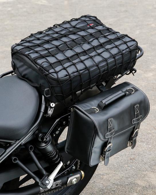 キジマ トランスコンチネンタルスタイル for レブル250のリアキャリアとバッグサポートを使った積載例