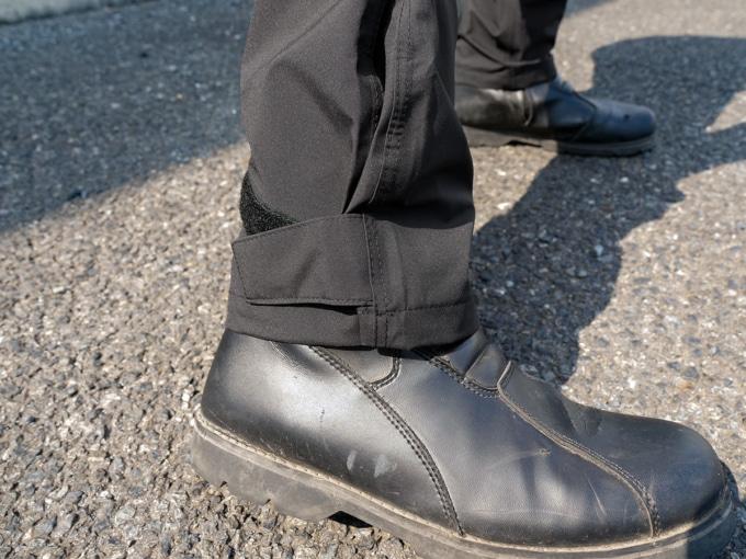 フラッグシップ FRS-2020 イノベーティブストレッチレインスーツ パンツ裾部