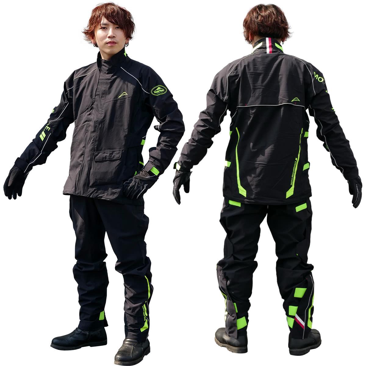 クシタニ K-3025 ストレッチレインスーツ 着用イメージ